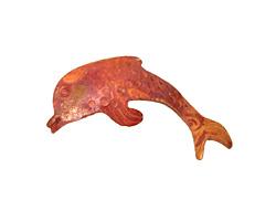Patricia Healey Copper Dolphin Pendant 32x15mm