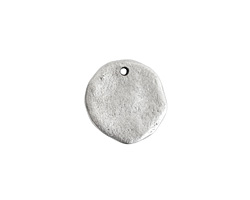 Nunn Design Antique Silver (plated) Large Organic Circle Tag 22x21mm