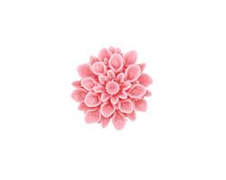 Opaque Pink Lucite Dahlia Flower Cabochon 16mm