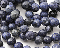 Dumortierite (dark) Faceted Round 10mm