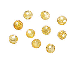 Sunshine Faceted Round 4mm