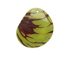 Tagua Nut Apple Groovy Slice 25-35x30-42mm