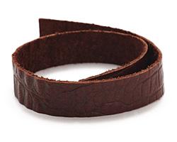 """TierraCast Cognac Hornback Leather Strap 10"""" x 1/2"""""""