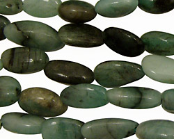 Emerald Tumbled Nugget 11-17x7-9mm