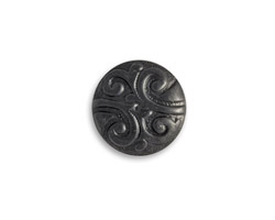 Vintaj Arte Metal Nouveau Button Decorivet 16x7mm