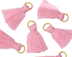 Garden Pink w/ Jump Ring Thread Tassel 20mm