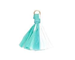 Turquoise Mix w/ Jump Ring Raffia Tassel 40mm