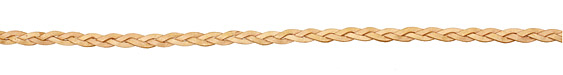 Antique Natural Flat Braided Leather Cord 5mm