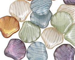 Czech Glass Luster Mix Seashell 14x13mm