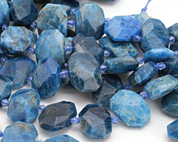 Pacific Blue Apatite Faceted Flat Slab 14-17x20-24mm