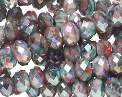 Jubilee AB Crystal Faceted Rondelle 8mm