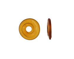 A Beaded Gift Light Topaz Glass Mini Disc 12-14mm