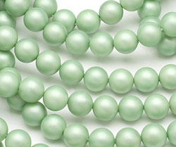 Mint (matte) Shell Pearl Round 8mm