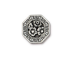TierraCast Antique Silver (plated) Blossom Button 17.5mm