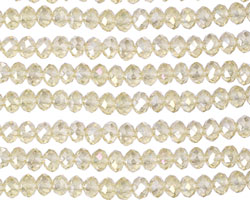 Jonquil AB Crystal Faceted Rondelle 4mm
