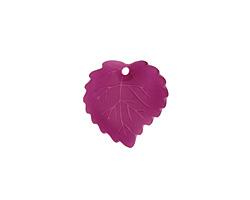 Matte Dark Amethyst Lucite Ivy Leaf 16mm