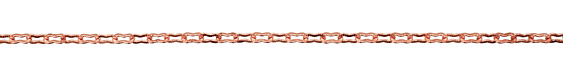 Copper (plated) Etched Peanut Chain