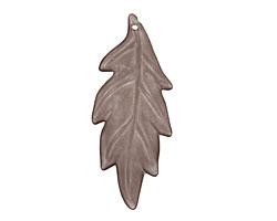 Lucite Smoke Ridged Leaf 18x42mm