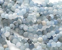 Aquamarine Faceted Round 3-4mm