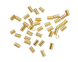 Beadalon Gold (plated) Crimp Tubes for 1.0mm Stretch Cord