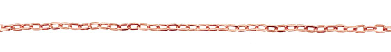 Copper (plated) Oval Cable Chain
