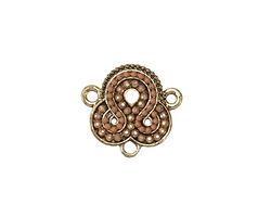 Zola Elements Antique Gold (plated) Desert Damask Y-connector 20x18mm