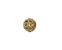 African Brass Roped Basket (large hole) Round 9-10x11-12mm