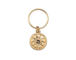 Zola Elements Matte Gold (plated) Starburst w/ Crystal Charm 12x28mm