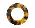 Zola Elements Tortoise Shell Acetate Donut Chandelier 38mm