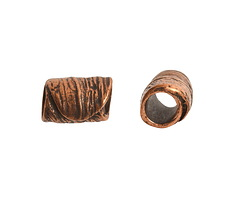 Nunn Design Antique Copper (plated) Leaf Barrel 12x7.5mm