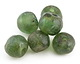African Recycled Glass Green Tumbled Rondelle 17-20x20-22mm