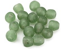 African Recycled Glass Bottle Green Tumbled Round 10-13mm