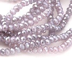 Moon Dust Crystal Faceted Rondelle 3mm