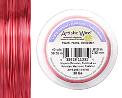 Artistic Wire Peach 28 gauge, 40 yards