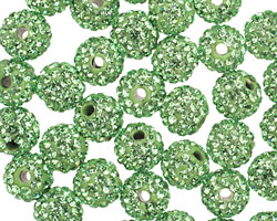 Peridot Pave (w/ Preciosa Crystals) Round 8mm