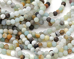 Black Gold Amazonite (matte) Round 4mm