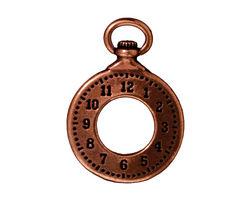 TierraCast Antique Copper (plated) Clock Pendant 20x29mm