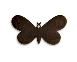 Vintaj Natural Brass Fairy Butterfly Altered Blank 33x17mm