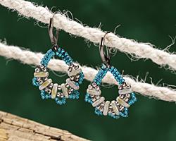 Serendipity Earrings Pattern for CzechMates