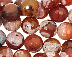 Autumn Patina Agate Faceted Round 12mm