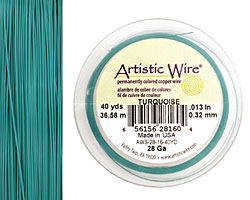 Artistic Wire Matte Turquoise 28 gauge, 40 yards