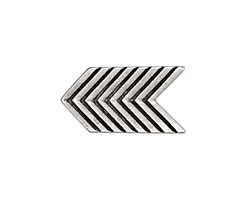 Zola Elements Antique Silver (plated) Chevron Arrow 5mm Flat Cord Slide 28x16mm