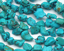 Chinese Turquoise Nugget 3-10x6-10mm