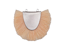 Zola Elements Antique Silver (plated) Apricot Fringed Focal Link 31x25-29mm