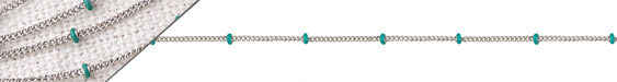 Stainless Steel Turquoise Satellite Chain