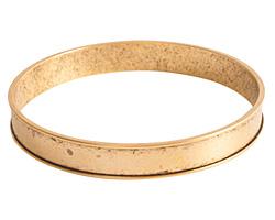 Nunn Design Antique Gold (plated) Channel Bangle Bracelet 70mm