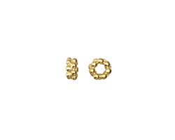 Vintaj 10K Gold (plated) Dotted Spacer 8mm