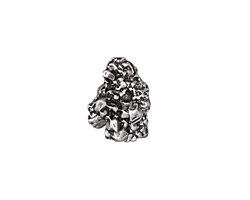 Zola Elements Antique Silver (plated) Small Nugget Drop 3mm Flat Cord Slide 12x16mm