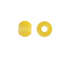 Desert Gold Recycled Glass Rondelle (large hole) 12x10mm