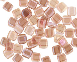 CzechMates Glass Twilight Alexandrite 2-Hole Tile 6mm